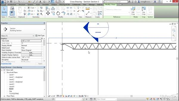 Add cross bracing to joists: Cert Prep: Revit Structure Certified Professional