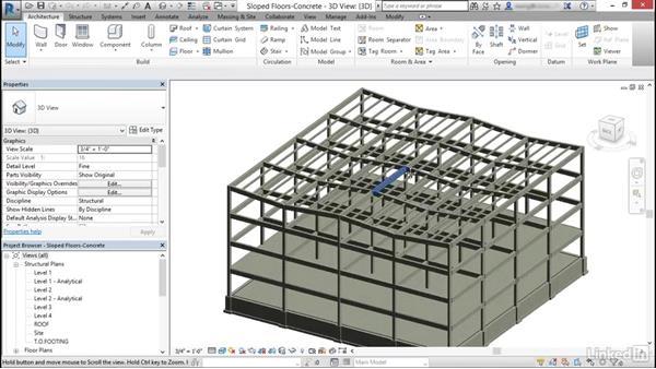 Model floors: Cert Prep: Revit Structure Certified Professional