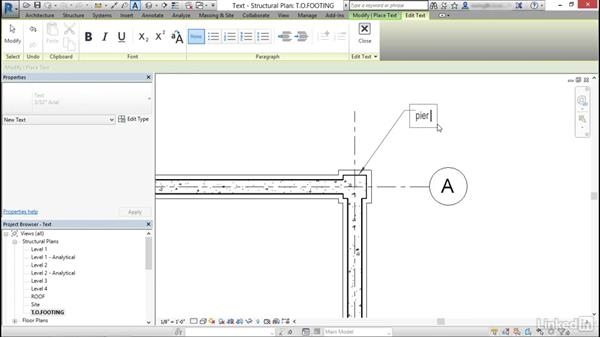 Add and modify text annotations: Cert Prep: Revit Structure Certified Professional