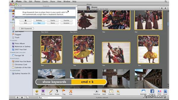 Adding keywords: iPhoto '09 Essential Training