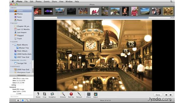Creating a duplicate: iPhoto '09 Essential Training
