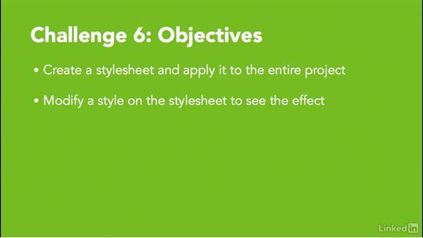 Challenge 6: Create a stylesheet: MadCap Flare 11 Essential Training