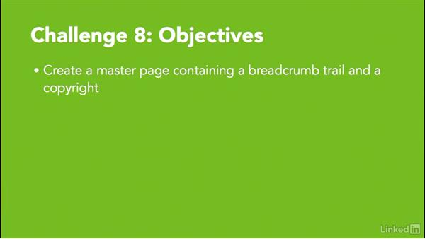 Challenge 8: Create a master page: MadCap Flare 11 Essential Training