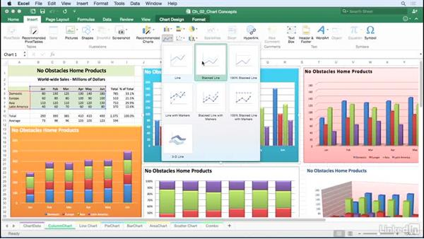 Use chart terminology: Excel for Mac 2016: Charts in Depth