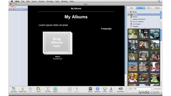 Working with other iLife apps: iPhoto '09 Essential Training