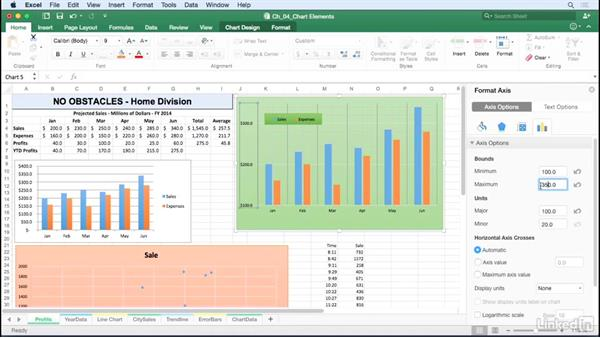 Modify axes: Excel for Mac 2016: Charts in Depth