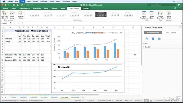 Add error bars: Excel for Mac 2016: Charts in Depth