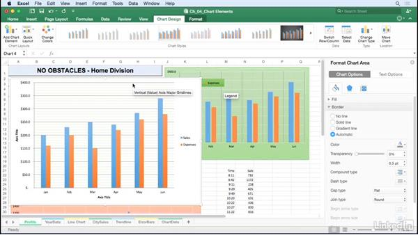 Work with gridlines: Excel for Mac 2016: Charts in Depth