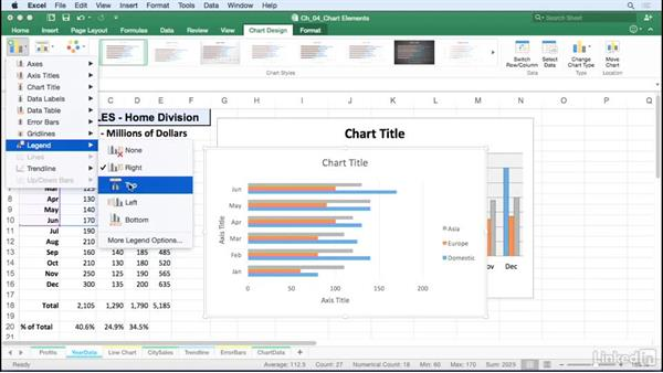 Add, edit, and remove legends: Excel for Mac 2016: Charts in Depth