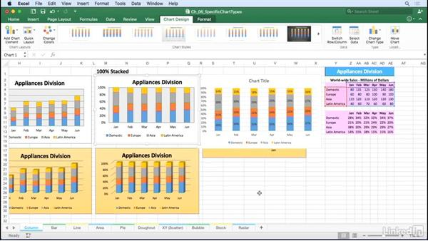 Column and bar charts: Excel for Mac 2016: Charts in Depth