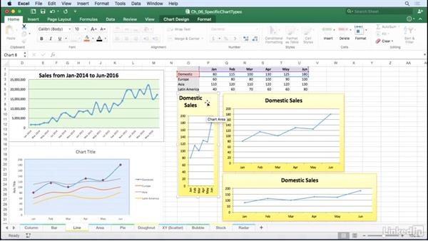 Line charts and area charts: Excel for Mac 2016: Charts in Depth