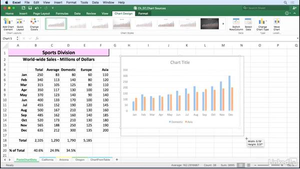 Add or delete data in a chart: Excel for Mac 2016: Charts in Depth