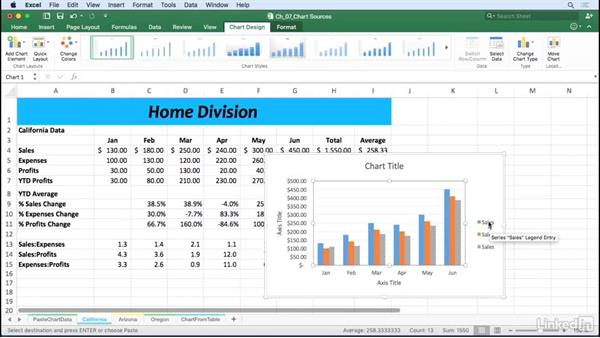 Create charts from multiple data sources: Excel for Mac 2016: Charts in Depth