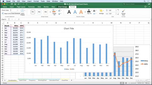 Create combination charts: Excel for Mac 2016: Charts in Depth