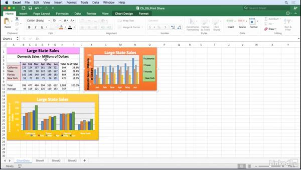 Print charts: Excel for Mac 2016: Charts in Depth