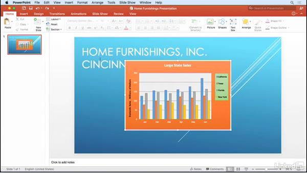 Copy and link charts with Word and PowerPoint: Excel for Mac 2016: Charts in Depth