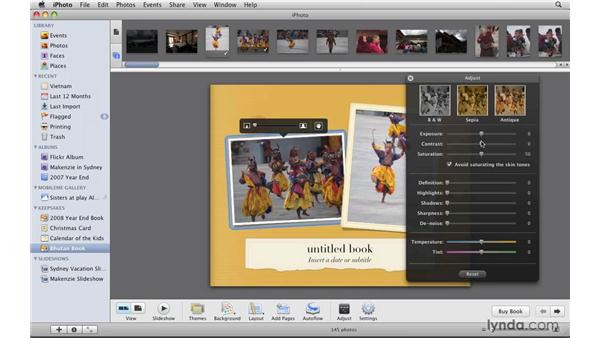 Creating a photo book: iPhoto '09 Essential Training
