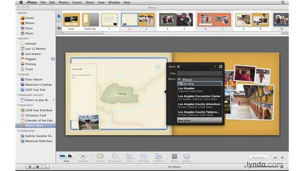 Creating a travel map: iPhoto '09 Essential Training