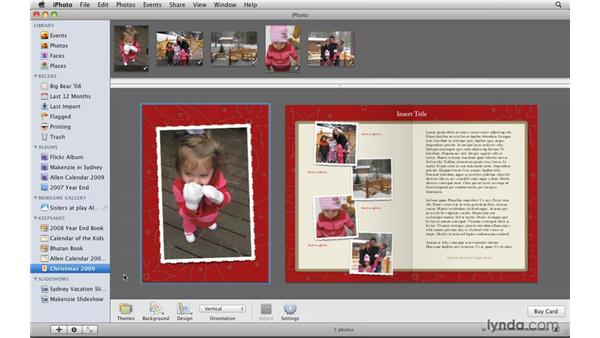 Building a card: iPhoto '09 Essential Training
