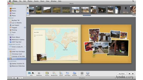 Customizing a project: iPhoto '09 Essential Training
