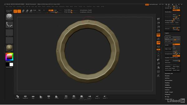 Sculpting the book cover compass ring: ZBrush: Stylized Sculpting