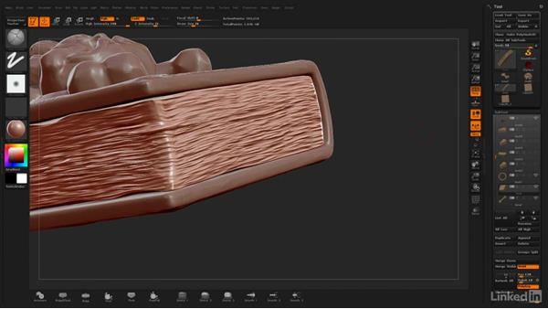 Final details on the pages: ZBrush: Stylized Sculpting