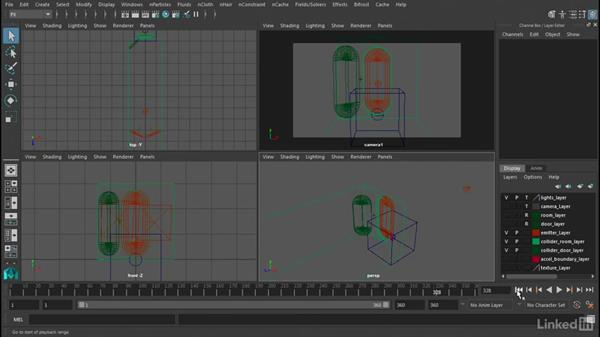 Emitting from a liquid container: Maya Bifröst: Dynamic Simulations