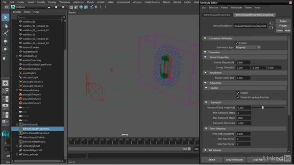 Analyzing the simulation: Maya Bifröst: Dynamic Simulations