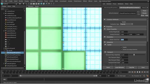 Optimizing Master Voxel Size: Maya Bifröst: Dynamic Simulations