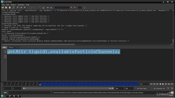 Listing the active Bifröst channels: Maya Bifröst: Dynamic Simulations