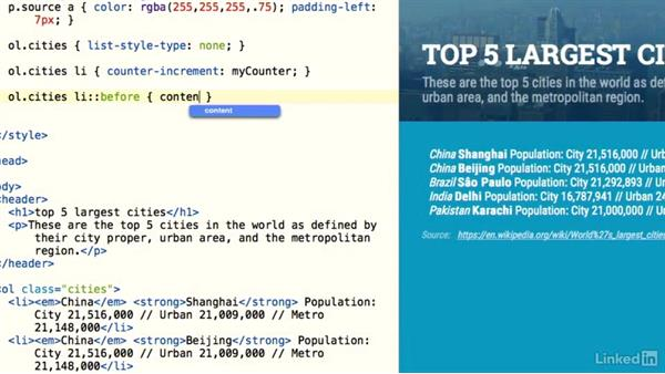 Introduction: Design the Web: Styling a Numbered List