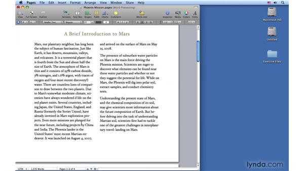 Working with columns: Pages '09 Essential Training