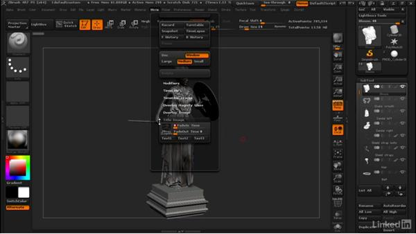 Setting preferences for recording movies: ZBrush: Tips & Tricks