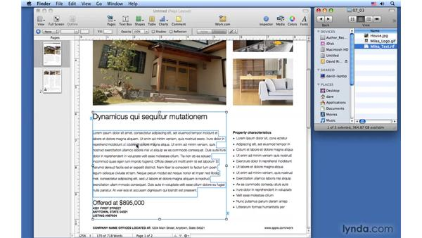 Replacing text and images: Pages '09 Essential Training