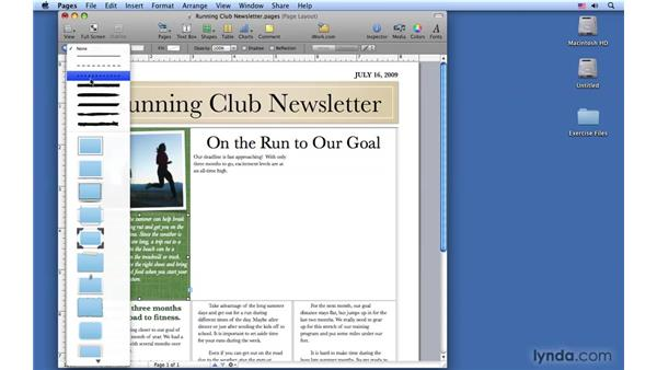 Using text boxes: Pages '09 Essential Training