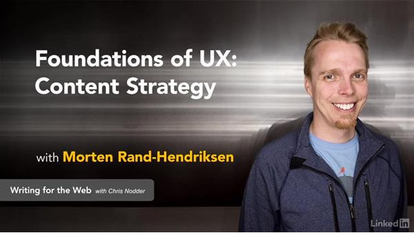 Get the ball rolling: Foundations of UX: Content Strategy