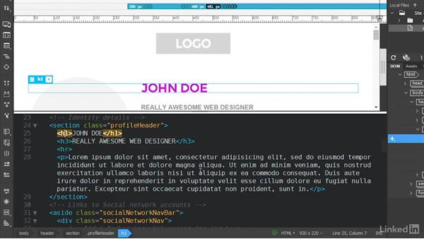 Using Quick Edit and Quick Docs: Dreamweaver CC Beta: First Look