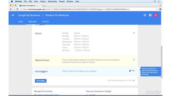 Adding business information: Google+ for Business