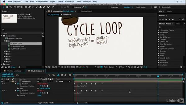 Cycle loop: Motion Graphics Loops 02: After Effects Techniques