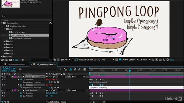 Pingpong loop: Motion Graphics Loops 02: After Effects Techniques