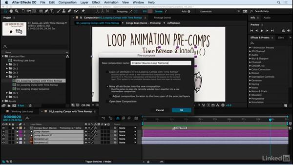 Using Time Remap to loop animation precomp: Motion Graphics Loops 02: After Effects Techniques