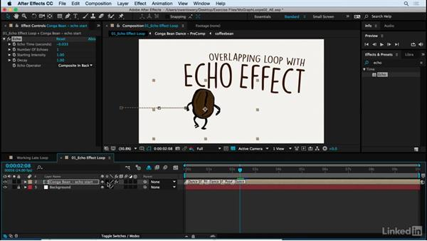 Echo effect for continuing loop: Motion Graphics Loops 02: After Effects Techniques