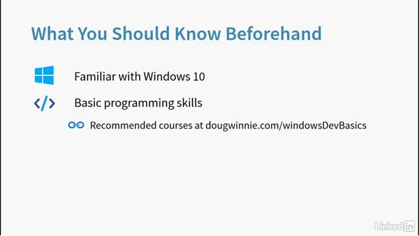 What you should know beforehand: Learning Universal Windows App Development