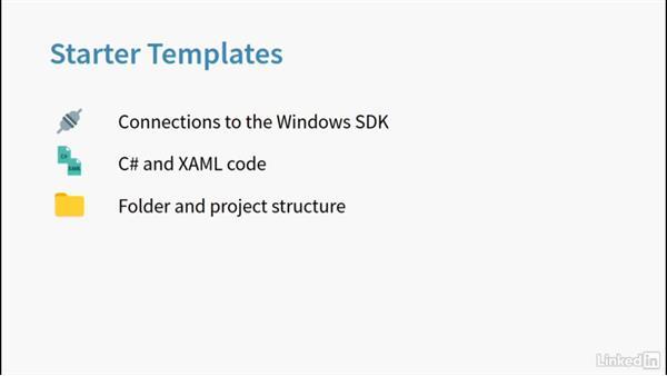 Starter templates: Learning Universal Windows App Development