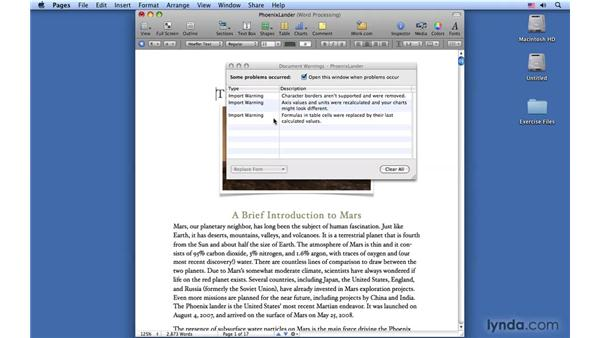 Working with Microsoft Word files: Pages '09 Essential Training