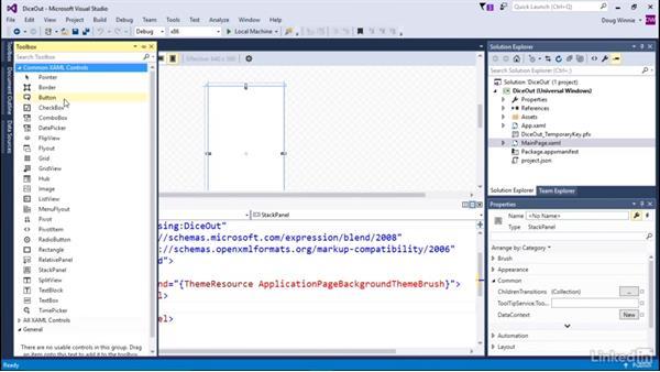 Create basic controls: Learning Universal Windows App Development