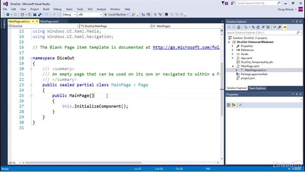 Create variables: Learning Universal Windows App Development