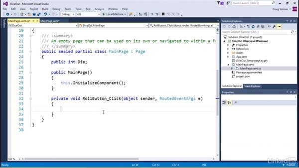 Create a basic interaction: Learning Universal Windows App Development