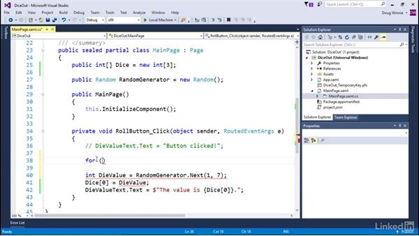 Create three dice: Learning Universal Windows App Development