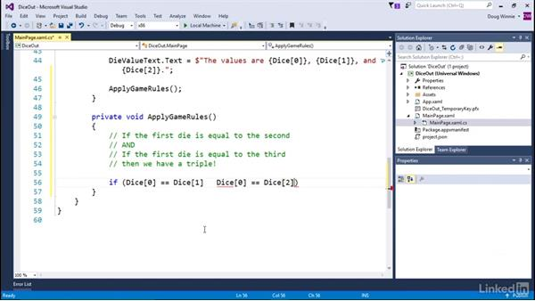 Create game logic: Learning Universal Windows App Development